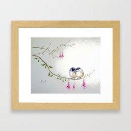 Two Chickadees Framed Art Print