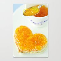 breakfast Canvas Prints featuring BREAKFAST by Ylenia Pizzetti
