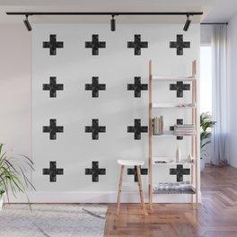 Watercolor Swiss Cross (White) Wall Mural