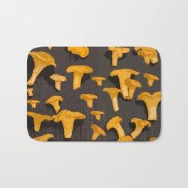 Chantterelles On A Dark Grey Background - Autumn Harvest - #Society6 #buyart Bath Mat