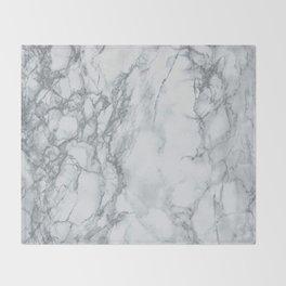 Gray Blue Granite Throw Blanket