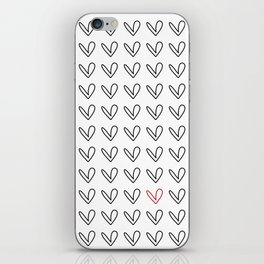 HEARTS ALL OVER PATTERN III iPhone Skin