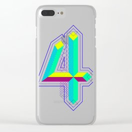 4 colors 4 the 4 Clear iPhone Case