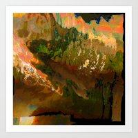 06-04-18 (Mountain Glitch) Art Print