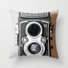 Yashica Vintage Camera Throw Pillow