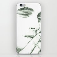 james franco iPhone & iPod Skins featuring Mr Franco by Troy Salmon Art