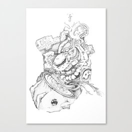 Warping Canvas Print