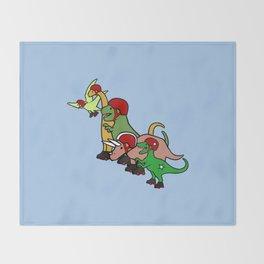 Roller Derby Dinosaurs Throw Blanket