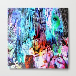 Cavern in Greece Metal Print