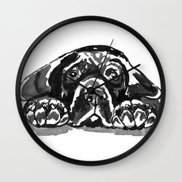 Black Lab - front view Wall Clock
