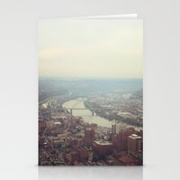 pittsburgh Stationery Cards featuring Soft Pittsburgh by clairemac