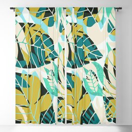 Beach summer tropical plant pattern Blackout Curtain