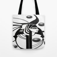 egyptian Tote Bags featuring Egyptian by Müge Başak