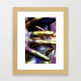 Bookeh Hands Framed Art Print