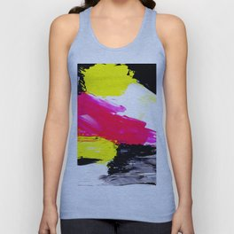 Funky colors abstract Unisex Tank Top