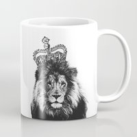 lion king Mugs featuring Lion King by MaNia Creations