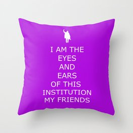 Keep Calm in Detention 3 Throw Pillow