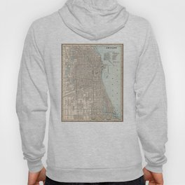 Vintage Map of Chicago (1893) Hoody