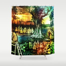Growing up on the Bayou Shower Curtain