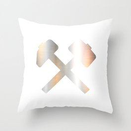 Sledge Hammer Tool T-shirt Design Lumberjack Welding Construction Workers Axes Steel Bar Blacksmith Throw Pillow