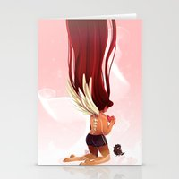 angel wings Stationery Cards featuring Angel Wings by Kiome-Yasha