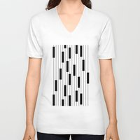 piano V-neck T-shirts featuring Piano by beach please