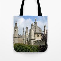 spires Tote Bags featuring Oxford Spires by Ann Horn