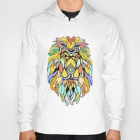 metallic Hoodies featuring Metallic Lion by J&C Creations