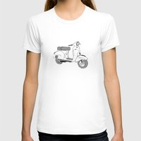 vespa T-shirts featuring Vespa by franzgoria