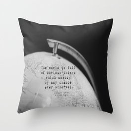 Sherlock Holmes World Obvious Throw Pillow