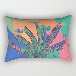 Colorful First Sprint Blossoms Rectangular Pillow
