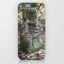mossy buddha in a faded red bib iPhone Case