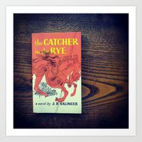 catcher in the rye Art Prints featuring The Catcher In The Rye by Anano