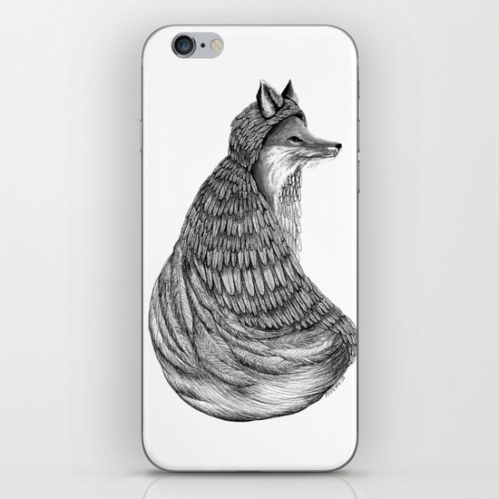 Fox- Feathered. iPhone Skin