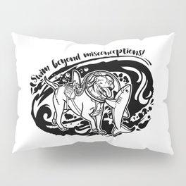 Lexy & Bruce - Swim beyond misconceptions! Pillow Sham