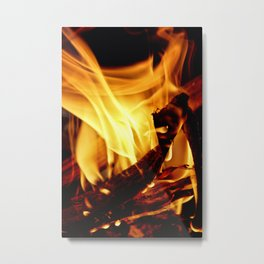 Willing to Burn Metal Print