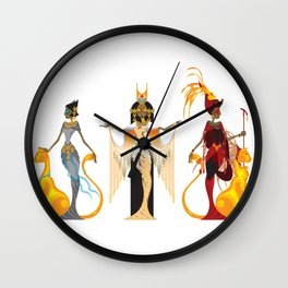 The Divas of Egypt Wall Clock