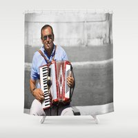 italian Shower Curtains featuring Italian by linalaughs