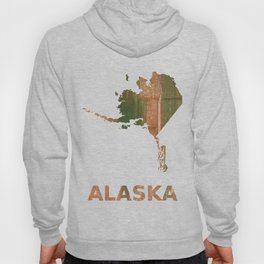 Alaska map outline Peru green streaked wash drawing illustration Hoody