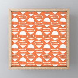 Retro Mid Century Modern Abstract Mobile 653 Orange Framed Mini Art Print