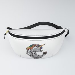 Unicorn At The Gym   Training Fitness Muscles Power Fanny Pack