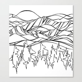 Mountain Pulse Canvas Print