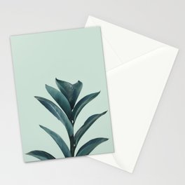 Teal Mint Plant Stationery Cards