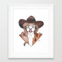 nerd Framed Art Prints featuring Nerd by Andres Estrada