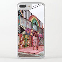 Psychedelic Building in Oklahoma City Clear iPhone Case