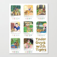 Tinder Guys With Tigers Canvas Print