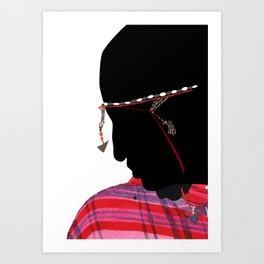 Maasai Man Art Print