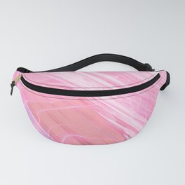 Abstract pink coral teal white watercolor marble pattern Fanny Pack