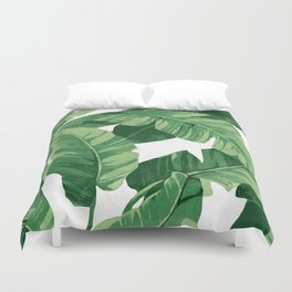 Tropical banana leaves IV Duvet Cover