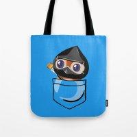 warcraft Tote Bags featuring Ninja Pepe! by SlothgirlArt